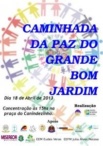 Caminhada da Paz do Grande Bom Jardim. Imagem compartilhada na página do Facebook do projeto Jovens Agentes de Paz.