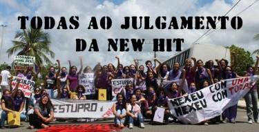 Manifestantes do grupo Marcha Mundial das Mulheres de diferentes cidade da Bahia estiveram em frente ao Fórum da cidade de Ruy Barbosa no dia do julgamento, em fevereiro Foto: Repúdio ao New Hit: Acusados de Estupro