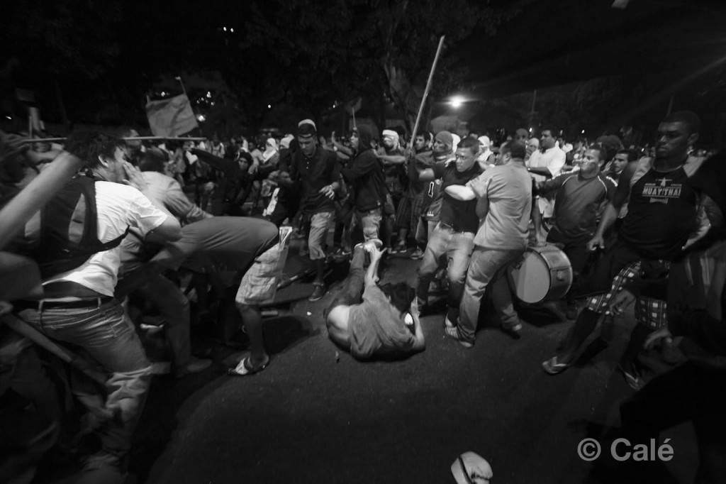 Protests in Rio end with violence