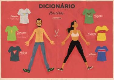 Quantos nomes pode ter uma camiseta? Imagem do Projeto Nosotros, utilizada com permissão.