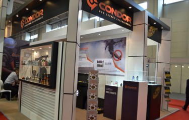 Stand of the firm Condor in the Brazilian pavilion in Turkey in May, 2013. Some of the items on exhibit are the same which would be used against the Turkish population less than one month later. /Agência Pública/Under Creative Commons license