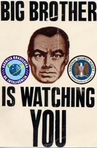O Big Brother está de olho em você. Imagem do @PartidoPirataBR