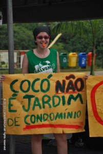 """Cocó is not a condo's garden"" Photo from the Facebook page 'Cocó Dunes'"