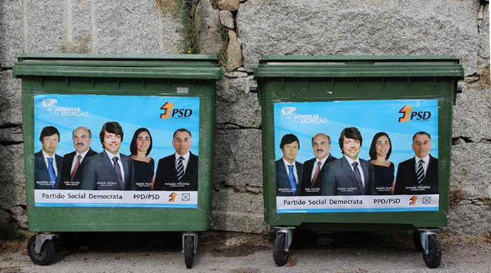 The electoral campaign was marked by various highs and lows which revealed the distrust in the political parties. The best example was the success achieved by the Facebook page Tesourinhos das Autárquicas, which satirises various election posters and other moments of the campaign, followed by more than 127,000 people.