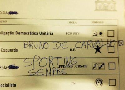 Voto nulo partilhado no Twitter por Manuel Portela (@ManuelP264)