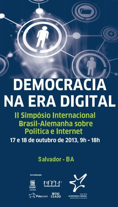Cartaz do Simpósio Democracia na Era Digital