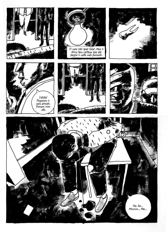 """Página da história em quadrinhos """"Encruzilhada"""". Artista: Marcelo D'Salete. Imagem utilizada com permissão."""