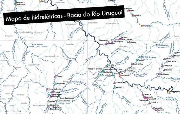A maior bacia hidrográfica da Região Sul do Brasil está cravejada de usinas hidreléctricas.