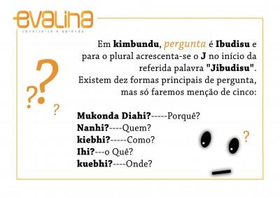 5 formas de fazer perguntas em Kimbundo