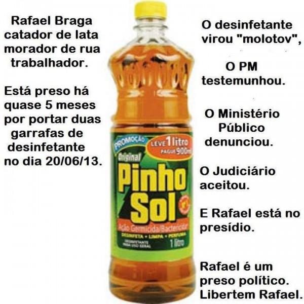 Montagem feita pelo perfil do Anonymous Rio no Facebook
