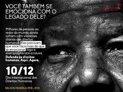 Banner publicized by Conectas Human Rights on Facebook