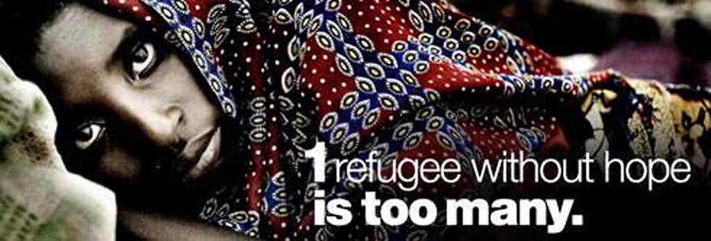 """""""Um refugiado sem esperança é demasiado"""". Imagem de divulgação do Dia Mundial dos Refugiados (20 de junho de 2011). Foto das Nações Unidas - Arménia noFlickr (CC BY 2.0)"""
