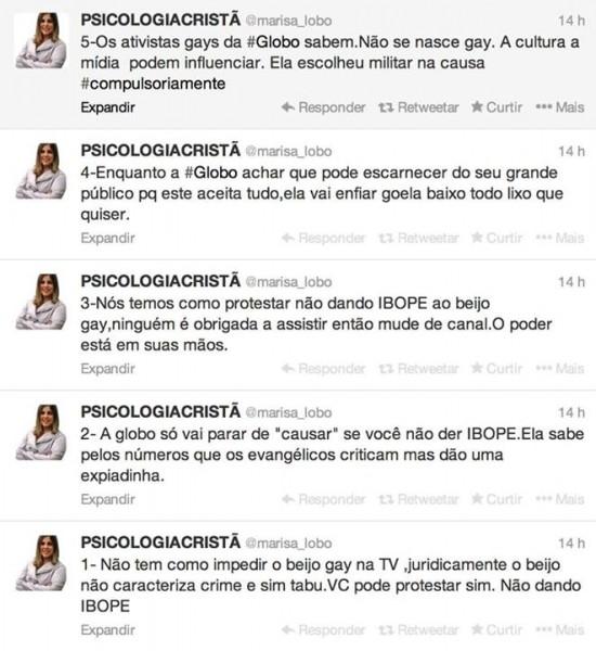Série de tuítes coletados pelo ativista Celso Dossi.