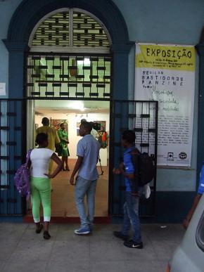 posição na galeria da Escola Nacional de Artes Visuais em Maputo. Foto de Jorge Fernandes
