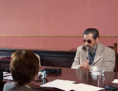 Coronel Paulo Malhães em depoimento a comissão Nacional da Verdade, em março. Foto: Marcelo Oliveira / ASCOM – CNV