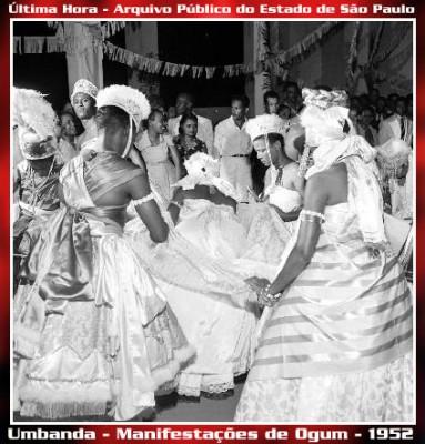 Manifestações de Ogum, festa da religião afro-brasileira umbanda. Foto: Arquivo Público de São Paulo - Última Hora / Flickr