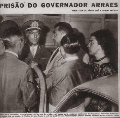 Prisão do governador de Pernambuco, Miguel Arraes, um dos dez mil brasileiros exilados na França. Foto: Blog Gilberto Lima
