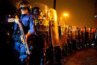 Policiais da Tropa de Choque, durante protesto em São Paulo, em 11 de junho de 2013. Foto: Gabriel Cabral/Flickr
