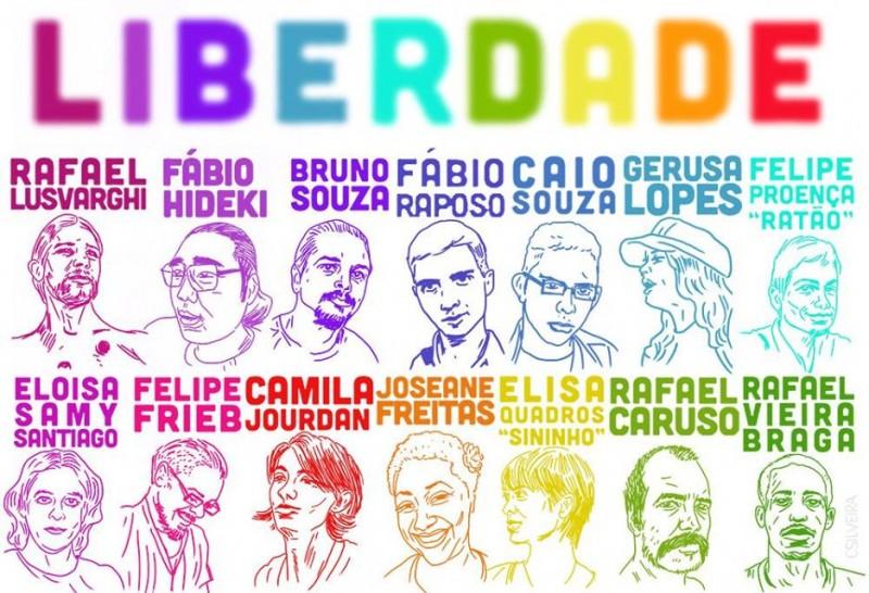 Alguns dos presos políticos e refugiados desde junho de 2013
