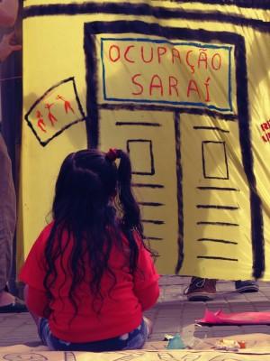 Além de residência, edifício virou espaço cultural no centro de Porto Alegre. Foto: Ocupação Saraí/Facebook