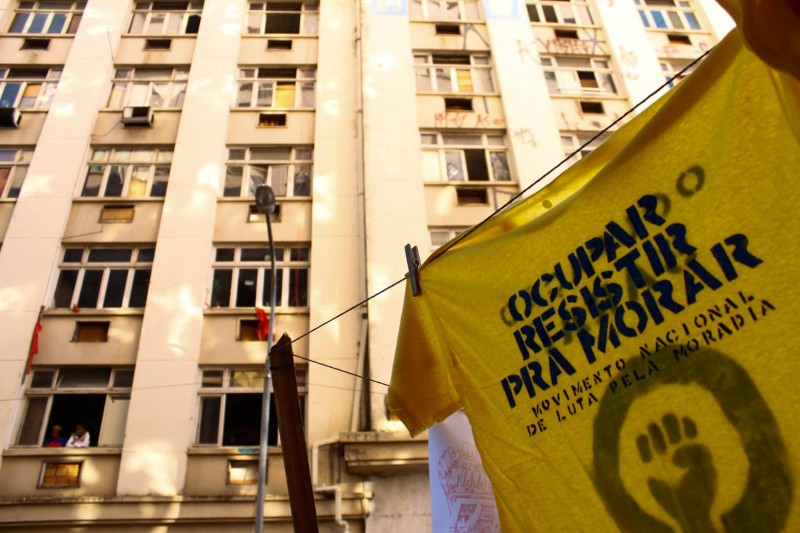 The building was unoccupied for 20 years before being expropriated. Photo: Ocupação Saraí/Facebook