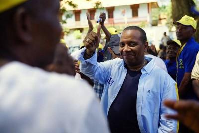 Patrice Trovoada em campanha eleitoral