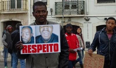 Flávio Almada(Ldc), vitima de violência policial na Cova da Moura. Foto: Luís F. Simões. Publicação permitida