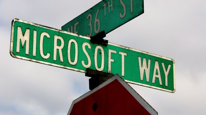 One Microsoft Way. Street sign on Microsoft campus, Redmond, WA. Photo: Flickr by ToddABishop. (CC BY 2.0)