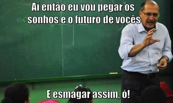 Montagem feita pela página Iconoclastia Incendiária, no Facebook, em protesto contra o governador de São Paulo, Geraldo Alckmin.