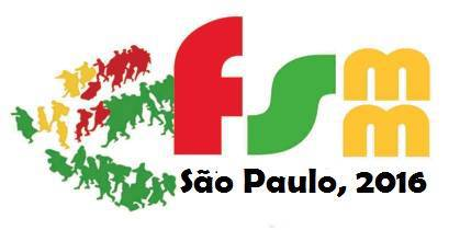 Logo do FSMM, já com a menção a São Paulo como sede para 2016. Crédito: Divulgação