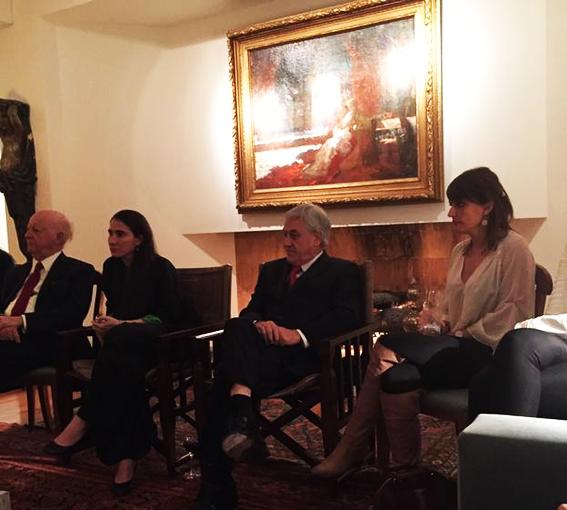 À esquerda, a blogueira cubana, Yaoni Sanchez; ao centro o ex-presidente do Chile Sebastián Piñera, à direita Gloria Alvarez. Foto: Reprodução/Twitter