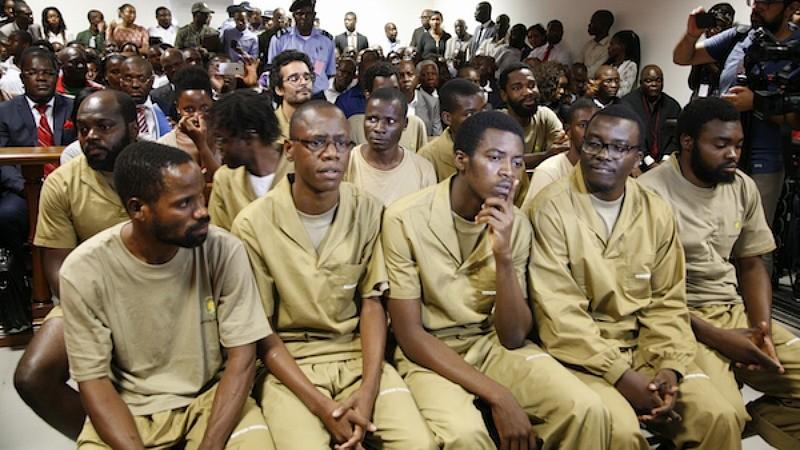 Julgamento dos 17 activistas presos em Angola. Foto: MakaAngola