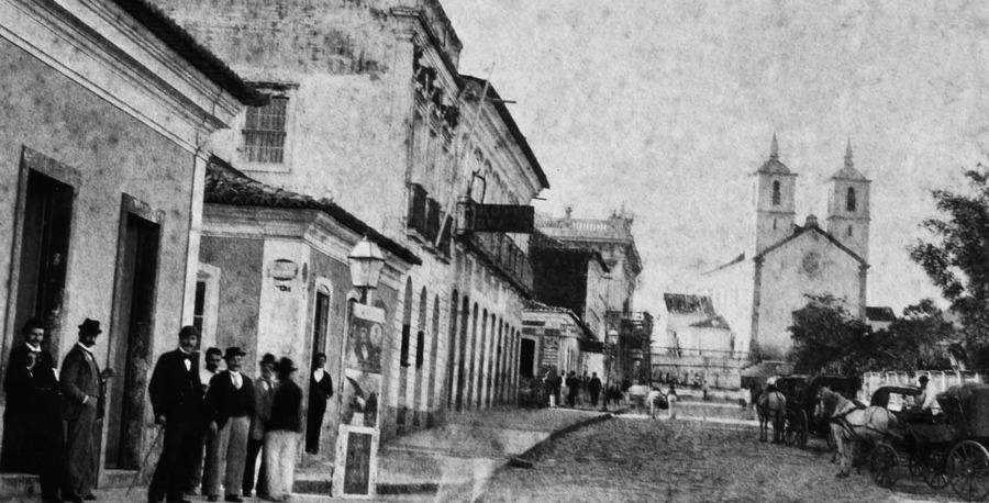 Florianópolis, capital de Santa Catarina, na época de infância de Antonieta de Barros | Foto: Reproduzida com autorização Magnólia Produções
