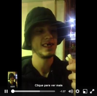 Ativista perdeu os dentes depois de agressão policial com cacetete. Print de vídeo postado pelo coletivo Território Livre