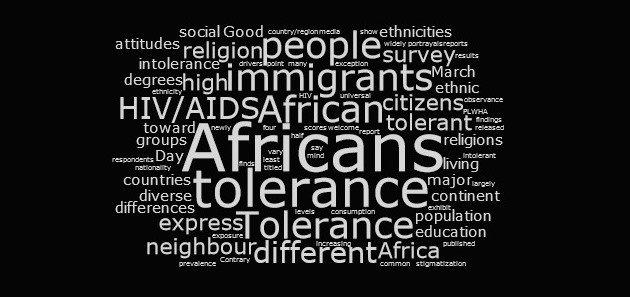 Índice de Tolerância em África. Imagem publicada com permissão.