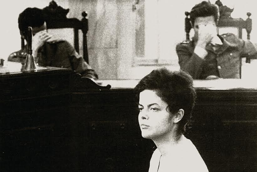 Dilma Rousseff em julgamento durante a ditadura militar | Foto: Arquivo Público de São Paulo