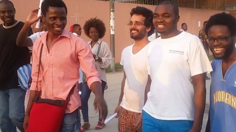 Ativistas em liberdade. Foto: Central Angola