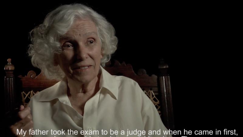 Mariazinha, irmã de Zeca Afonso. Captura de tela do Vimeo.