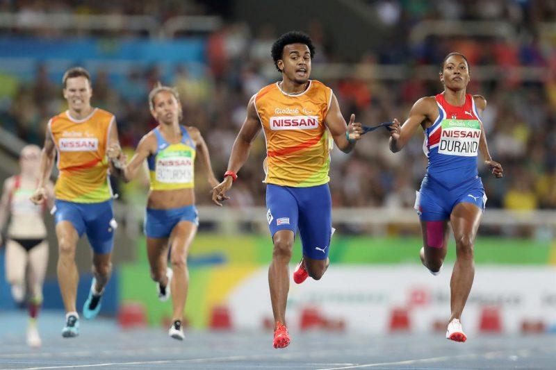 Boturchuk, Oksana,Durand, Omara - Atletismo - Ucrânia, Cuba - 400m rasos feminino - T12 - 400m feminino - T12, final - Estádio Olímpico (Engenhão) 2016 Getty Images - Matthew Stockman