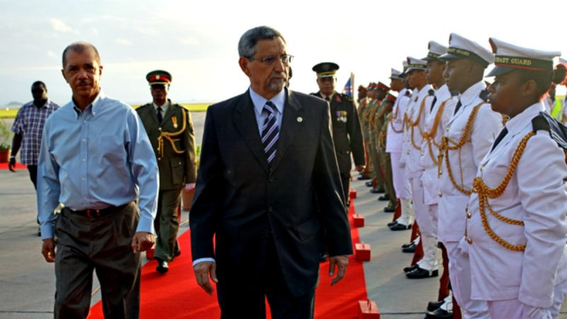 Jorge Carlos Fonseca numa visita oficial às Seychelles (2014). Foto: Arquivo Wikimedia / CC BY 4.0