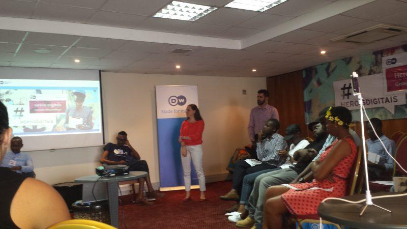 """""""Heróis Digitais"""" uma iniciativa da Deutsche Welle - África. Foto: Alexandre Nhampossa/GV"""