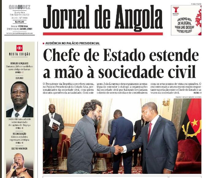 Encontro entre João Lourenço e activistas comentada pelos internautas angolanos