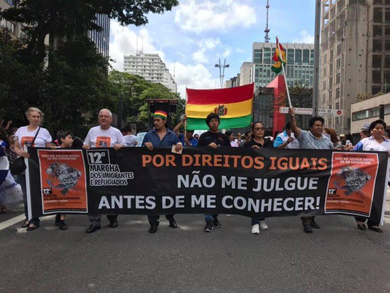 No Brasil, Marcha dos Imigrantes supera medo e protesta por direitos