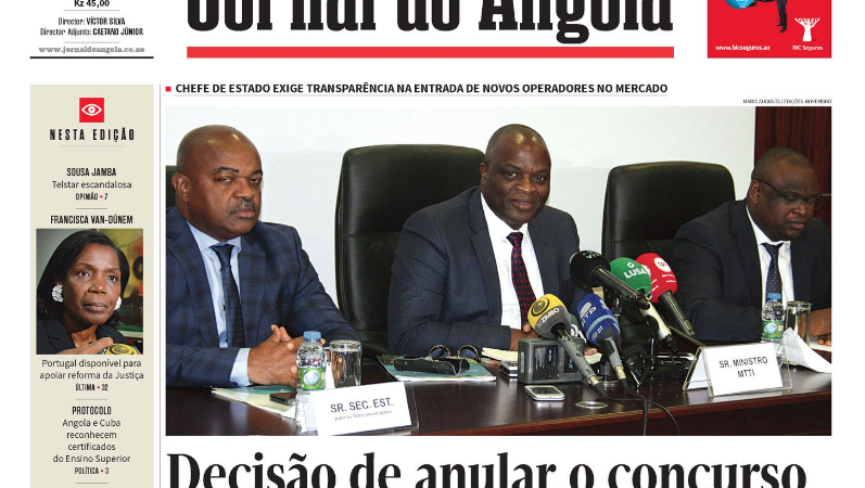 Angola cancelled a public tender after suspicions of fraud, indicating divisions in government · Global Voices