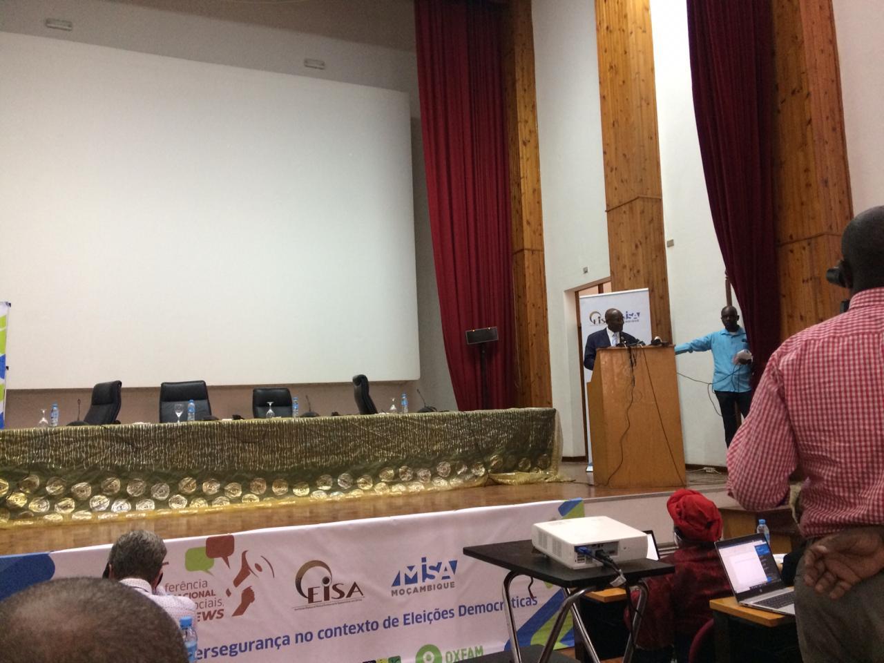Conferência 'Redes Sociais, Fake New, Desinformação e Cibersegurança no Contexto de Eleições Democráticas', Maputo. Foto por Dércio Tsandzana, 5 de Agosto de 2019.